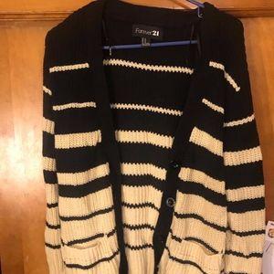 Black & Tan Cardigan/Sweater